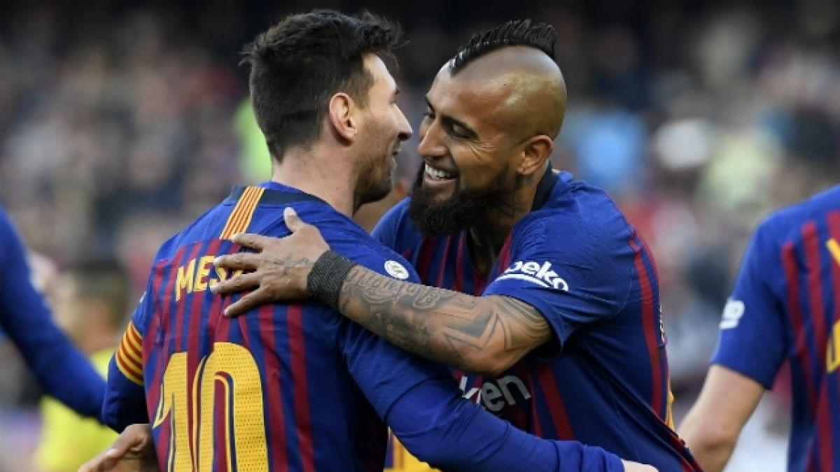 Estamos encantados de tenerle: Messi elogia a Vidal y revela si hubo apuesta para Copa América