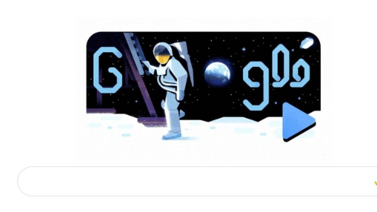 El genial Doodle con que Google conmemora la llegada del hombre a la luna