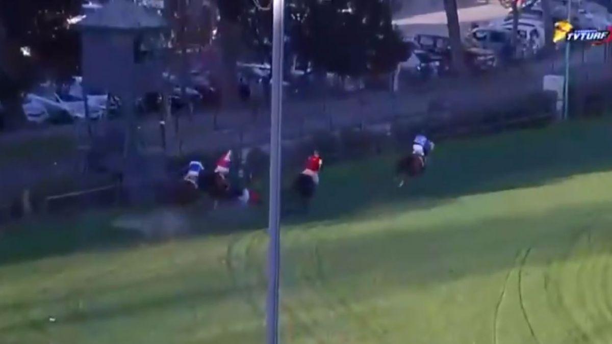 3 jinetes lesionados y caballos muertos deja grave accidente en carrera en el Club Hípico