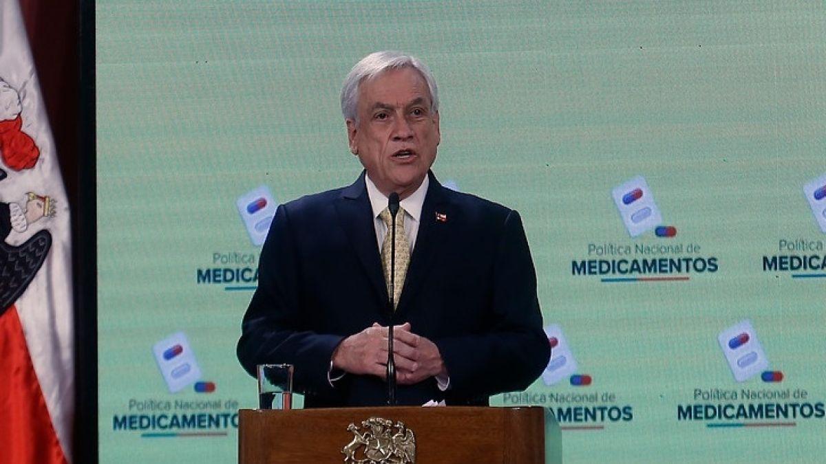 Piñera por Plan de Medicamentos: No vamos a seguir permitiendo abusos