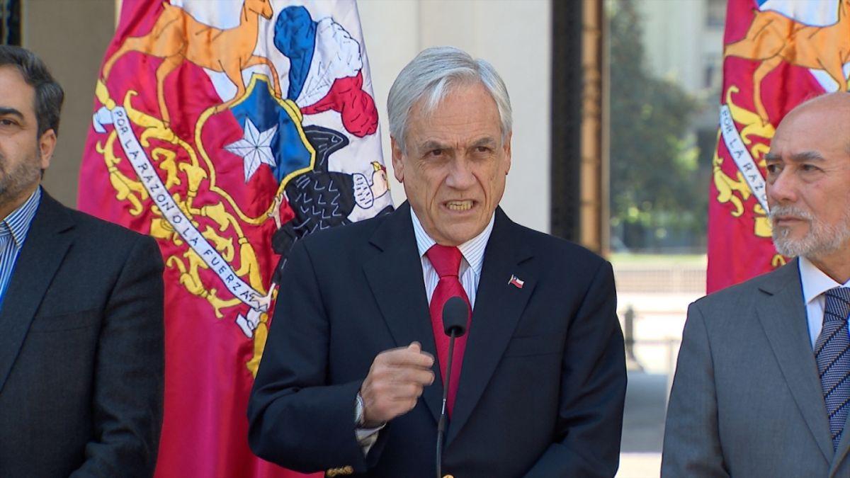 Piñera defiende Estado de Excepción: La democracia tiene el derecho y la obligación de defenderse
