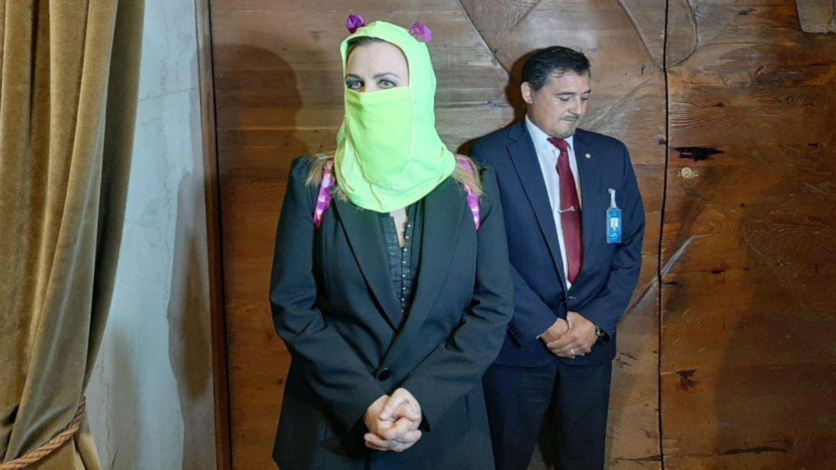 Pamela Jiles entró encapuchada a la sesión de la Cámara donde se revisará acusación a Piñera