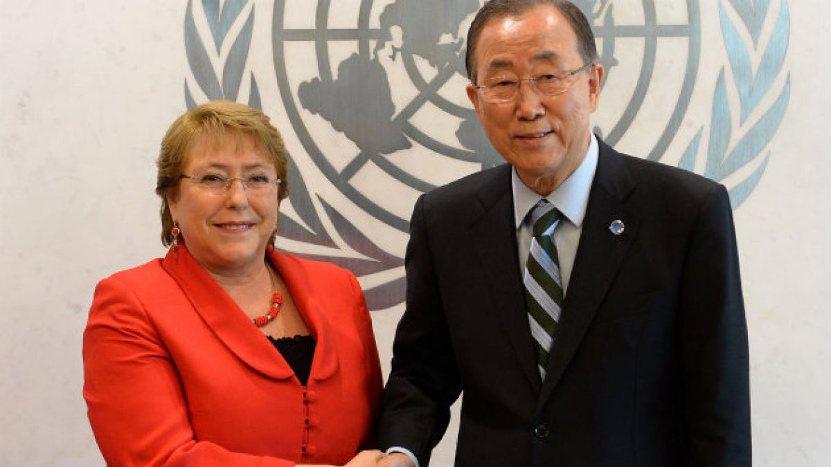 Bachelet aborda con Secretario General de la ONU retiro gradual de tropas chilenas en Haití