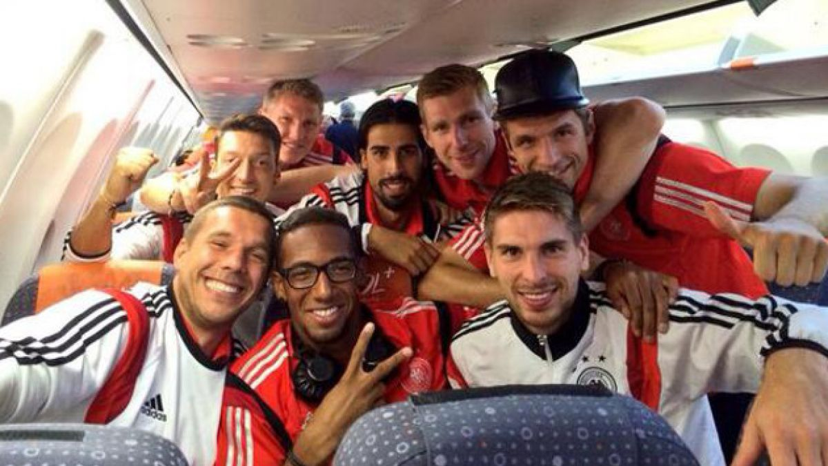 [FOTOS] Así fue el festejo de los jugadores de Alemania tras triunfo ante Brasil