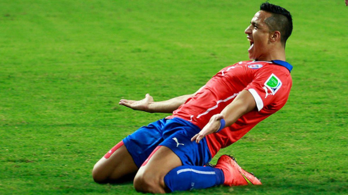 Alexis Sánchez es el noveno mejor jugador de la primera fecha del Mundial