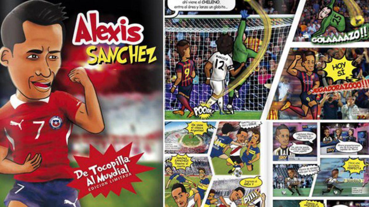 Alexis Sánchez: de las canchas a los cómics