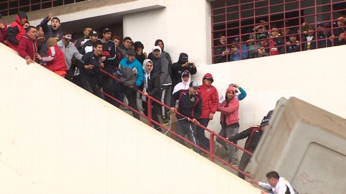 Sujetos que protagonizaron desmanes en duelo Barnechea-Colo Colo no podrán ingresar al estadio