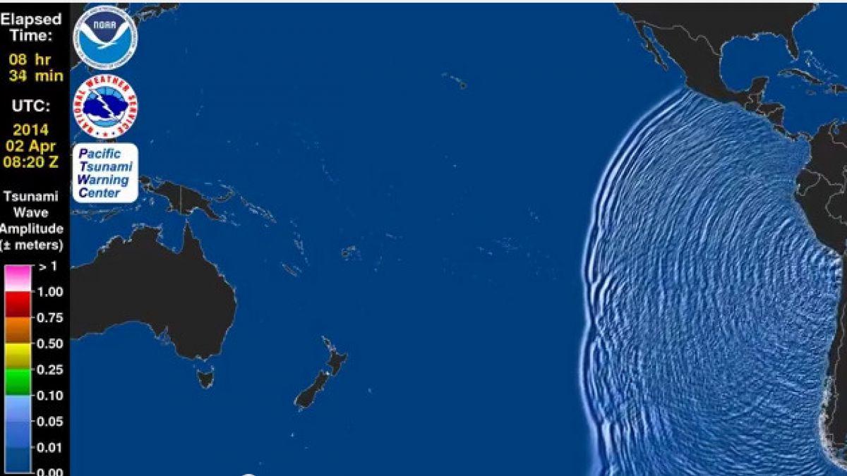 VIDEO: Realizan animación de tsunami generado por el terremoto