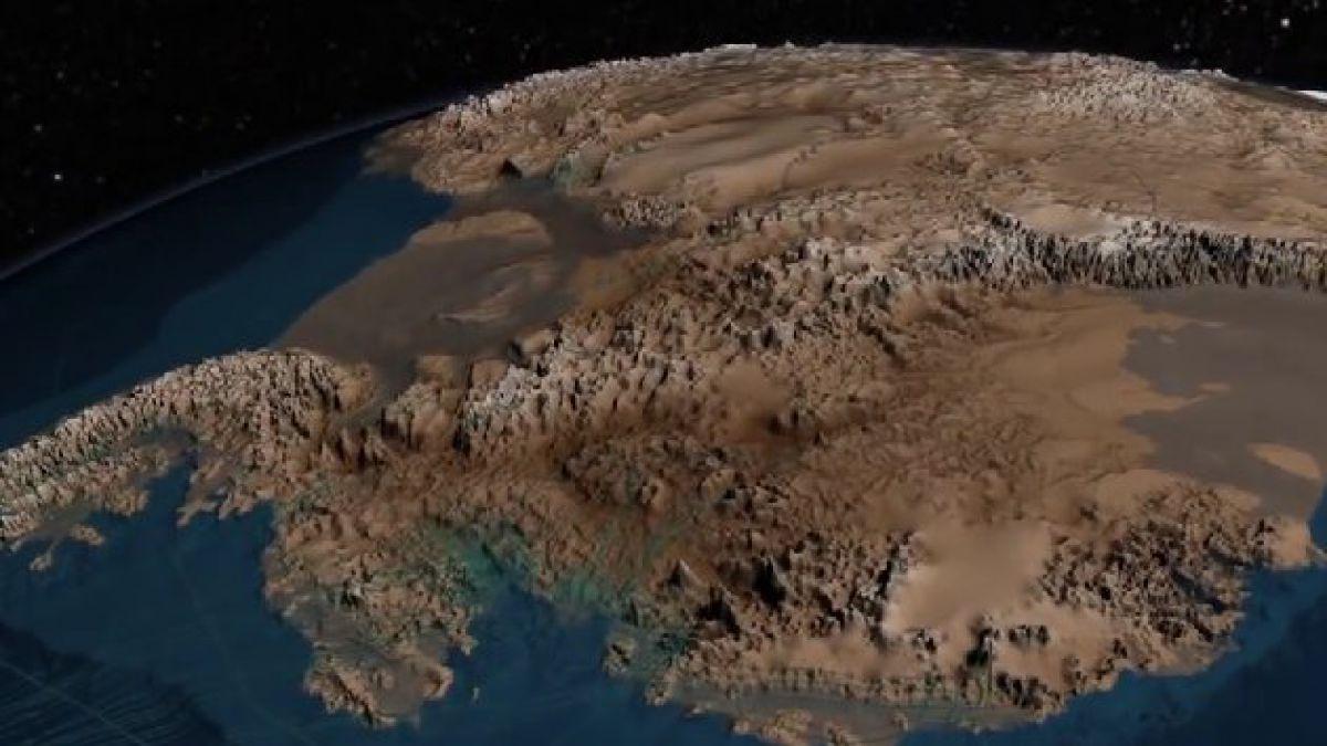 Así luciría la Antártica sin hielo ni nieve