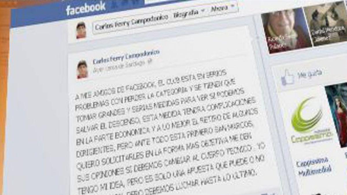 Timonel de San Marcos pregunta por Facebook si despide a DT