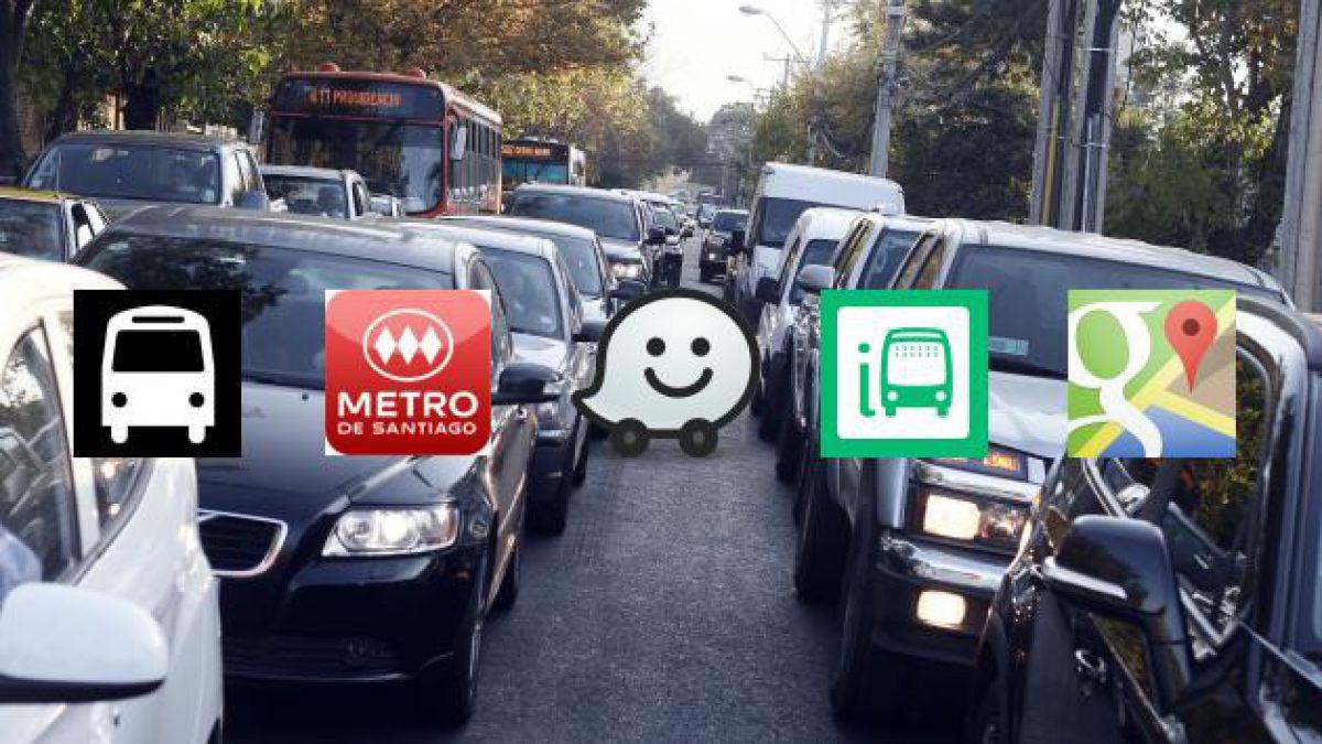 """Cinco aplicaciones para prevenir los """"tacos"""" en Santiago"""