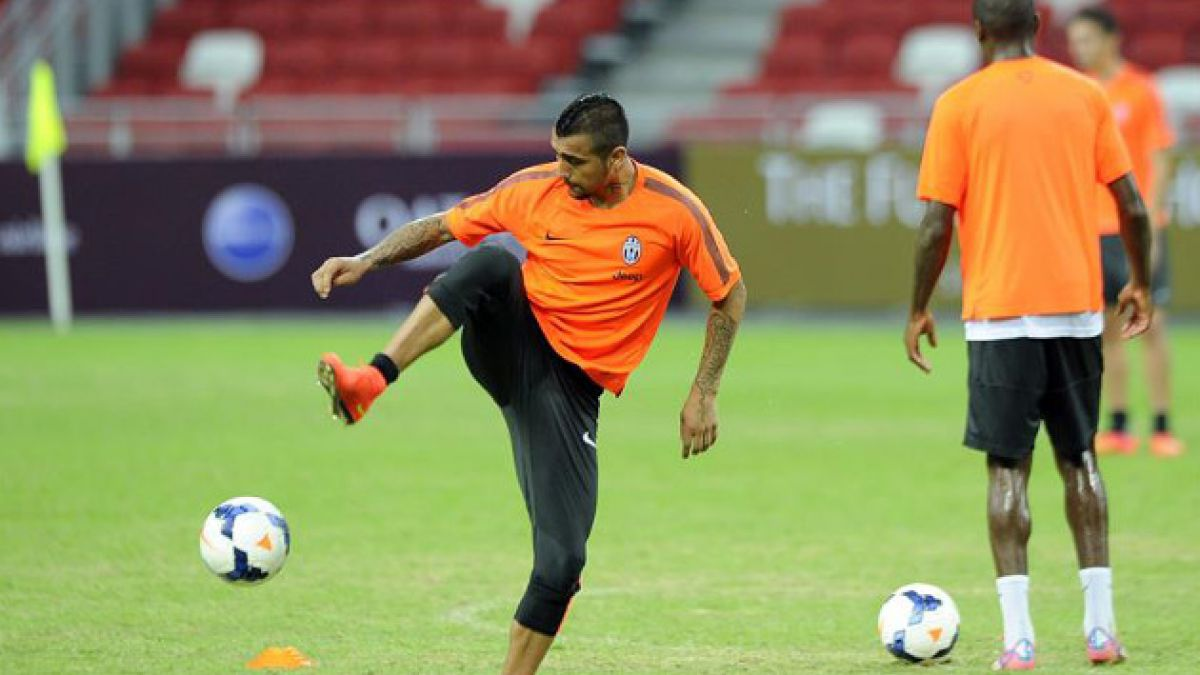 Arturo Vidal ya entrena en Juventus tras ser liberado de la Roja
