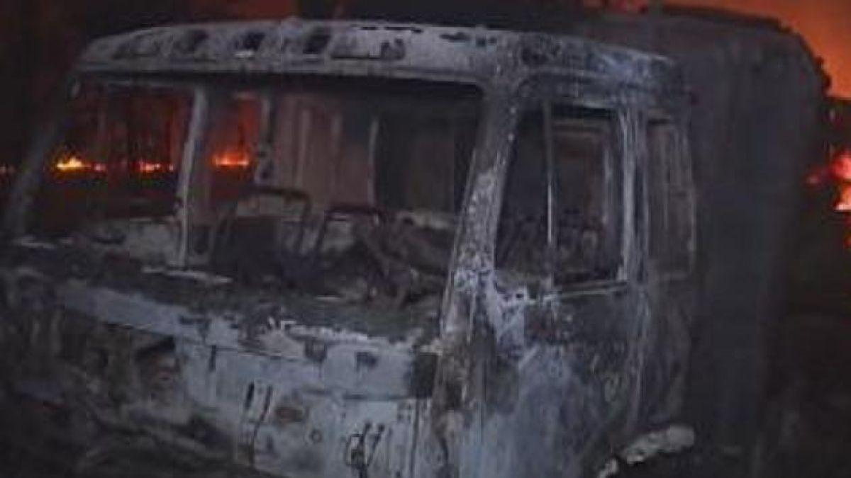 Tres camiones incendiados en atentado en la Araucanía