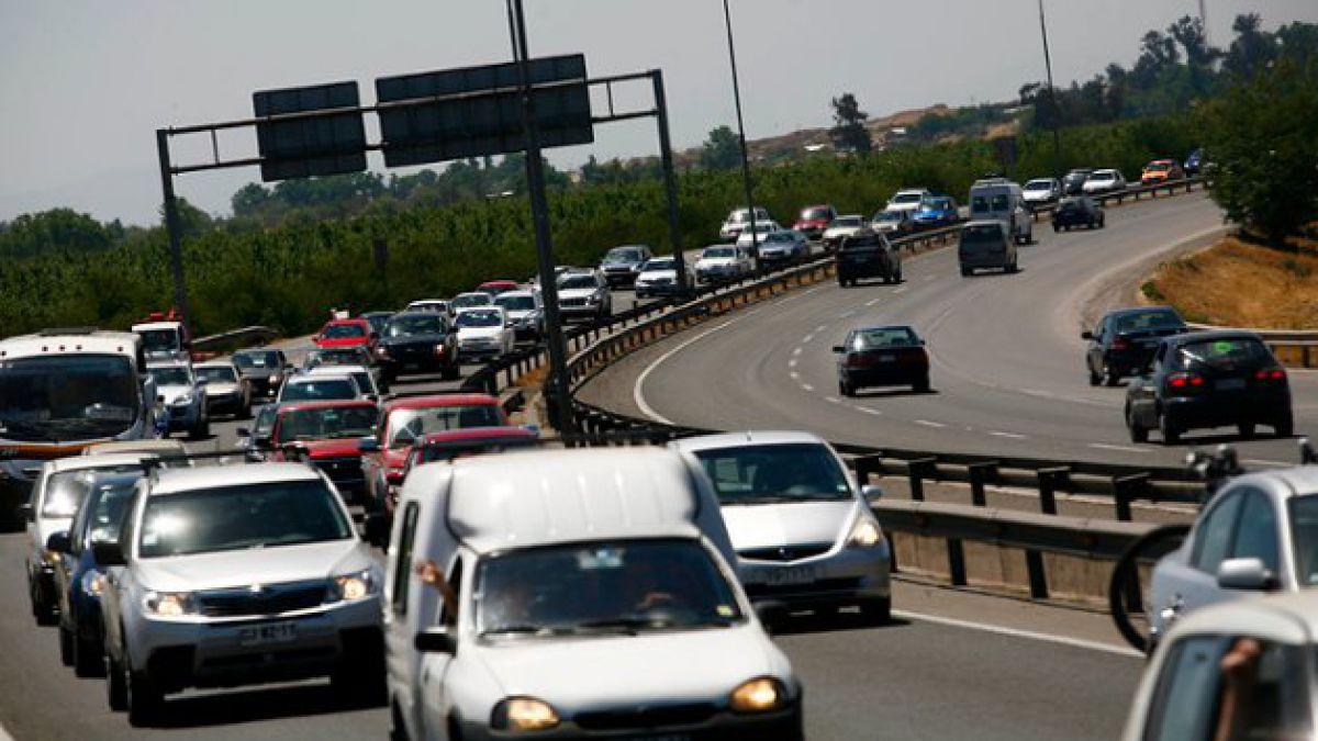 Autopista del Sol habilitará 3 pistas el domingo para autos que vuelvan a Santiago