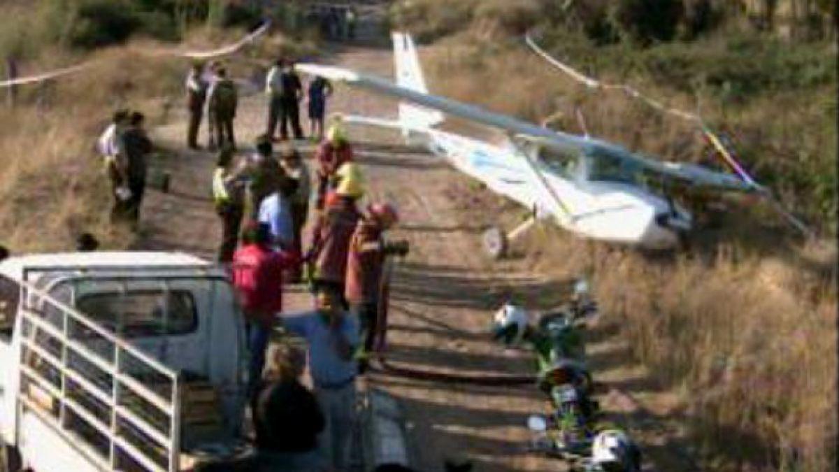 Avioneta con 3 ocupantes capotó en Los Andes