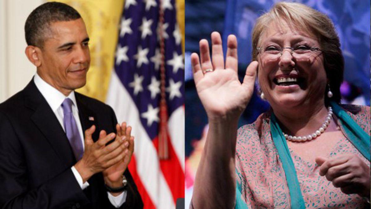 Barack Obama llamó a Michelle Bachelet para felicitarla por su triunfo