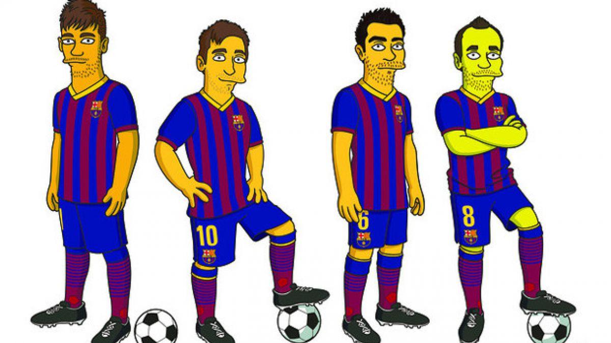 Figuras de FC Barcelona llegan al mundo de Los Simpsons