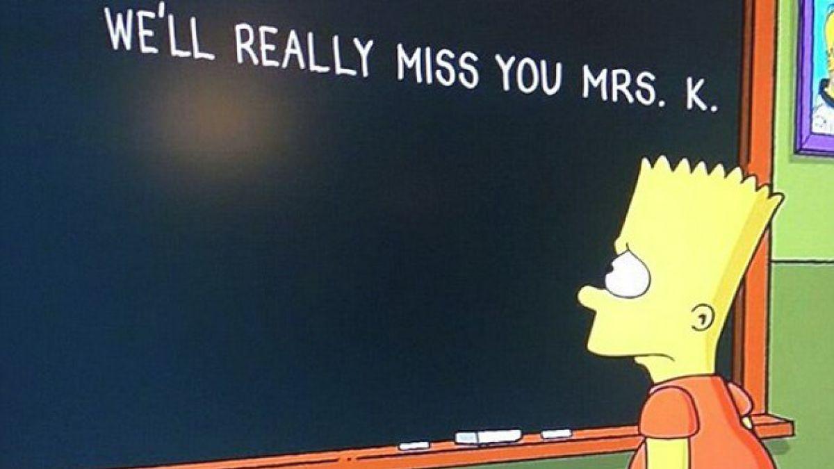 Bart Simpson homenajea a Marcia Wallace en su famosa pizarra