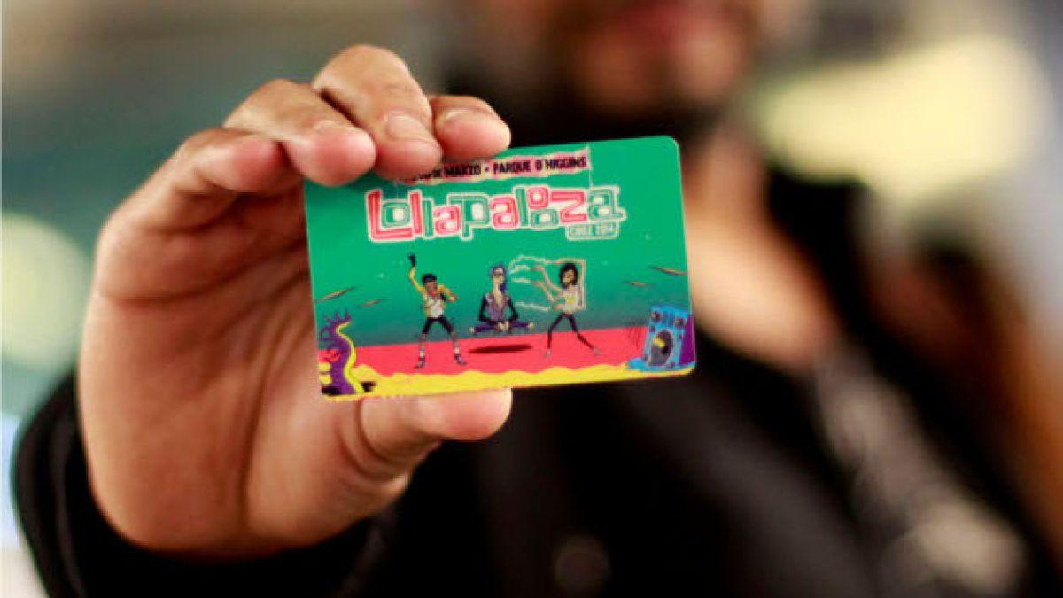 Lanzan tarjeta BIP! especial por Lollapalooza 2014