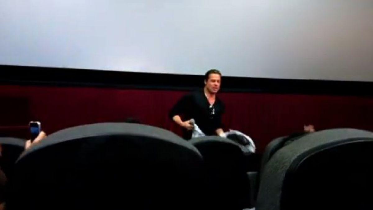 Brad Pitt sorprende a espectadores en sala de cine en Atlanta