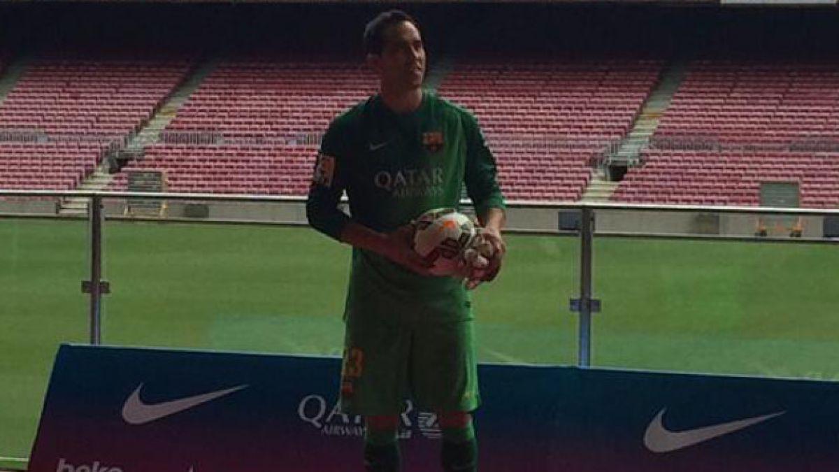 [VIDEO] Mira la presentación de Claudio Bravo como nuevo arquero del Barcelona