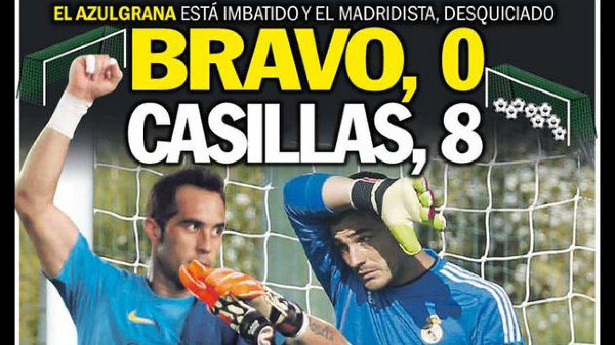 La dura comparación de la prensa española entre Claudio Bravo e Iker Casillas