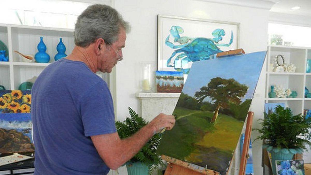 [FOTOS] George Bush revela su faceta artística con pinturas de líderes mundiales