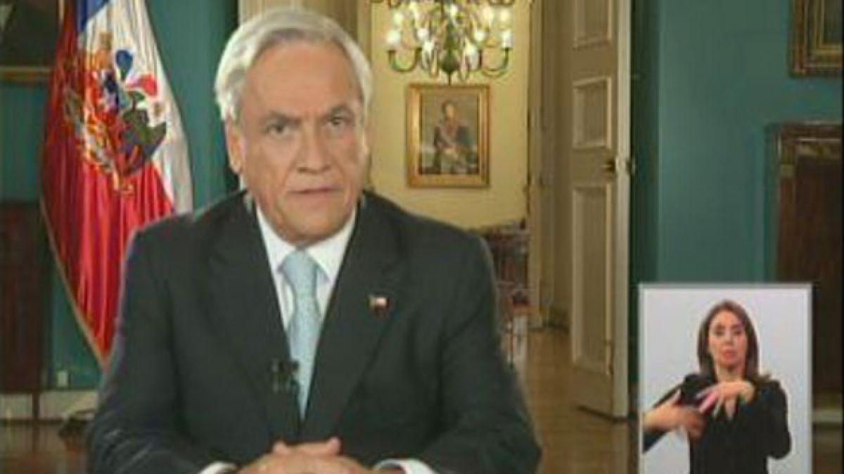 Presidente Piñera valoró acuerdo de reforma tributaria
