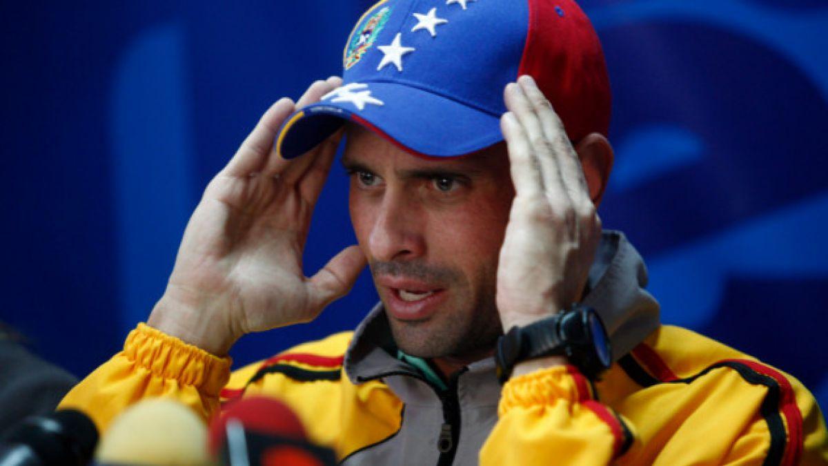 Venezuela: Henrique Capriles acudirá a primera sesión de diálogo con el gobierno