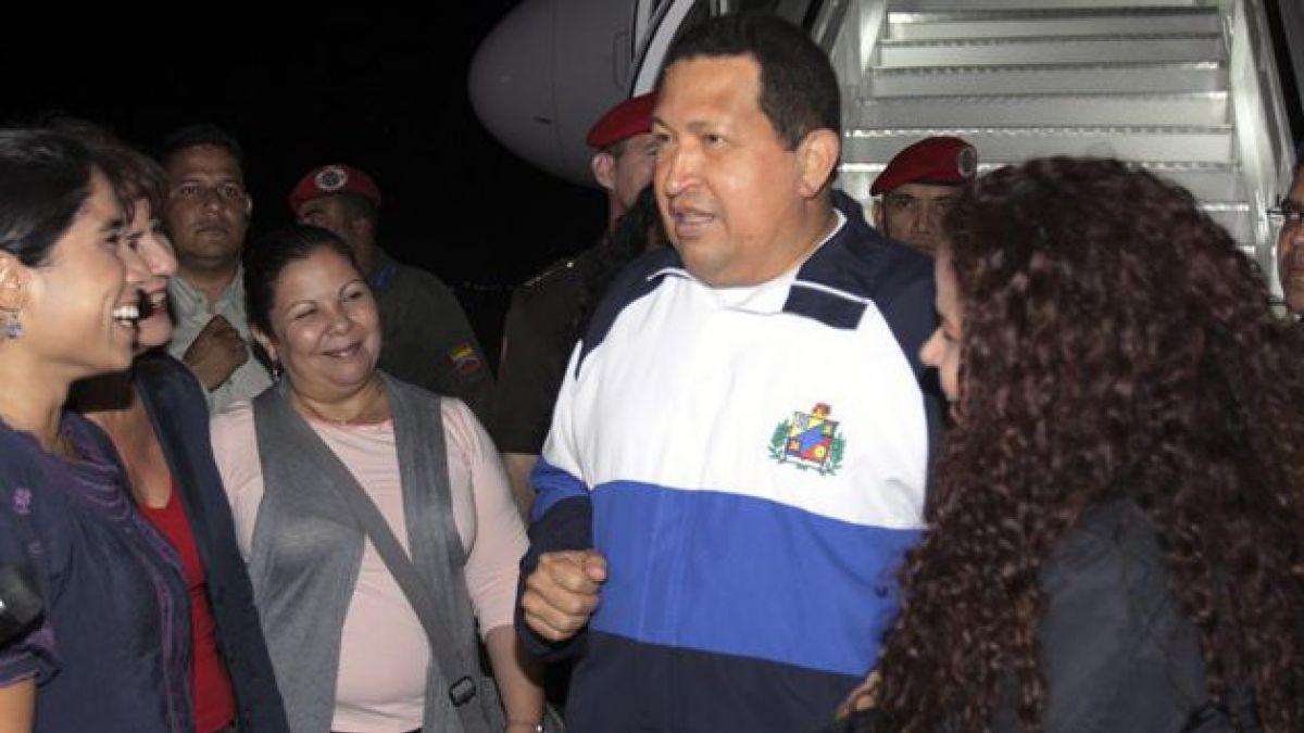 Presidente Chávez regresó a Venezuela