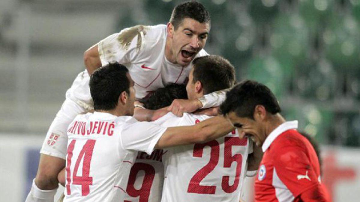Chile cayó ante Serbia en partido amistoso