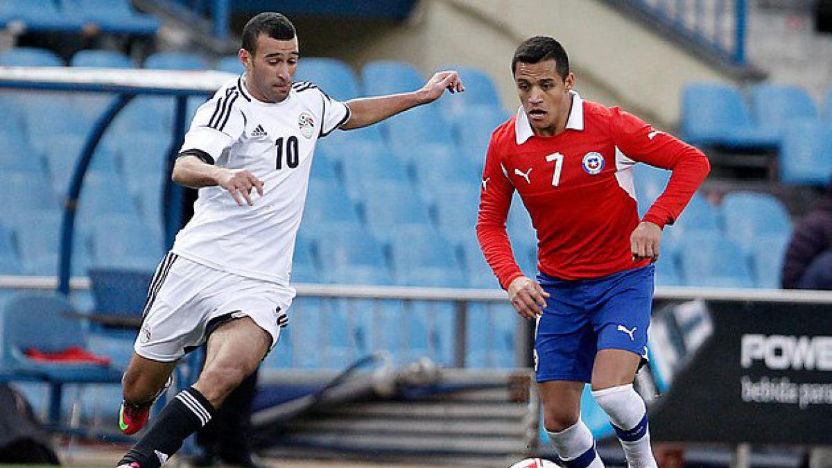 Chile venció a Egipto en partido amistoso