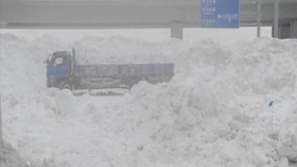 China: Intensas nevadas provocan emergencia en Harbin