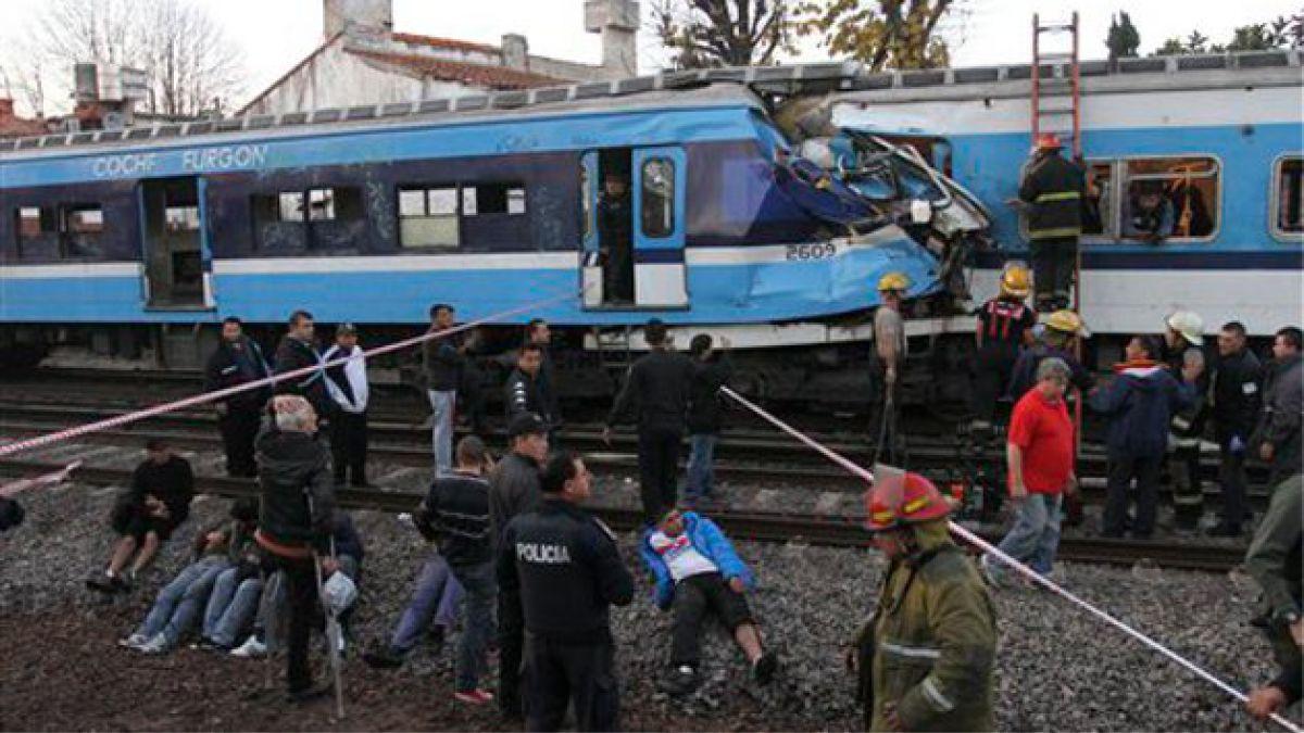 Aumenta número de heridos por choque ferroviario en Argentina