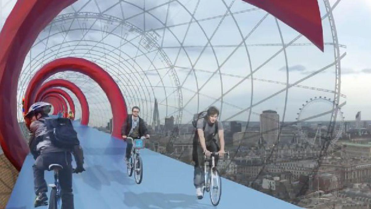 Arquitecto diseña ciclovía aérea en el corazón de Londres