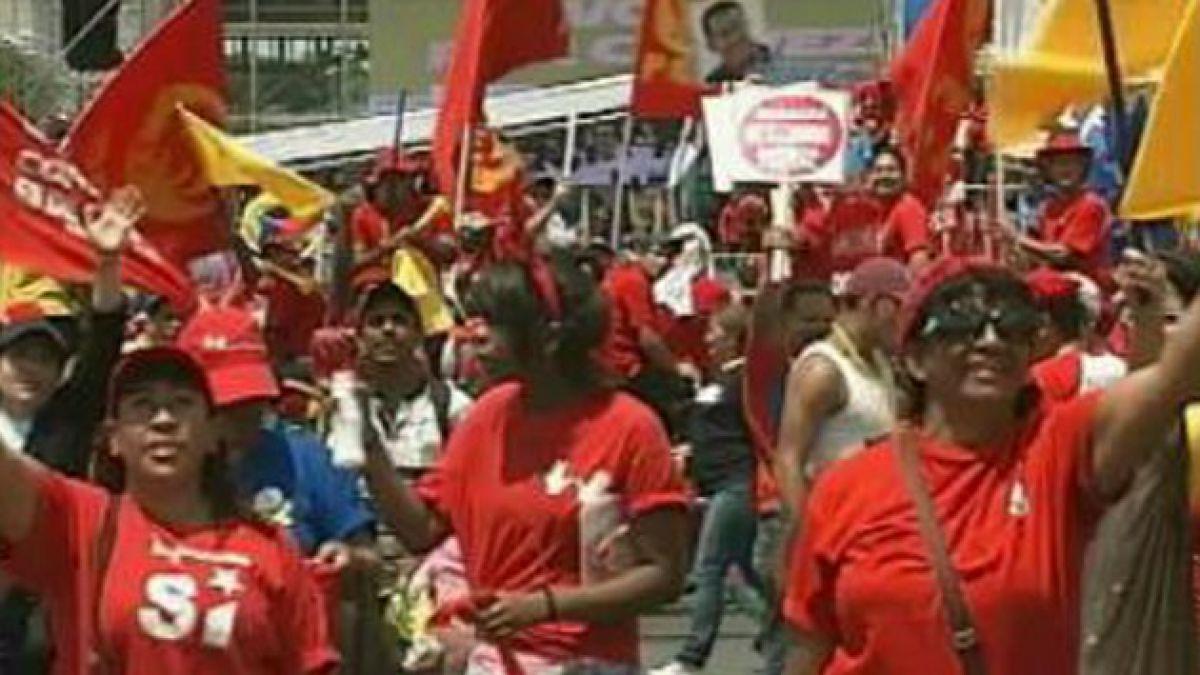Chávez prometió no defraudar al pueblo en cierre en campaña