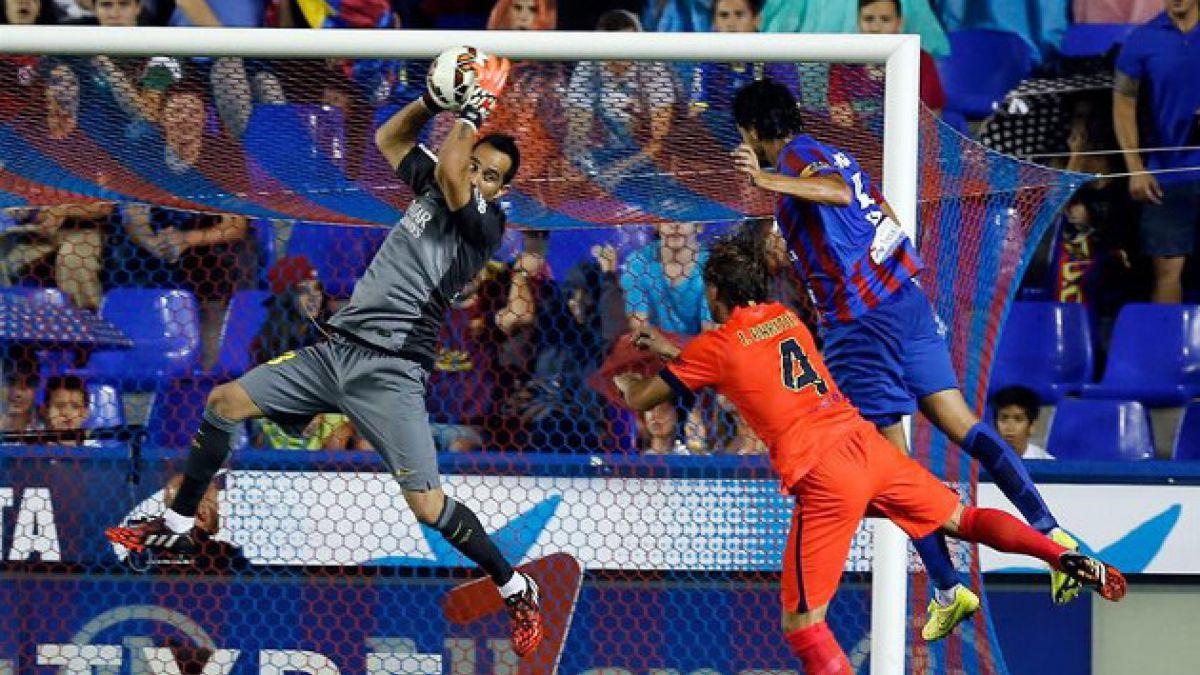 En España destacan que esta vez Claudio Bravo sí salvó a FC Barcelona