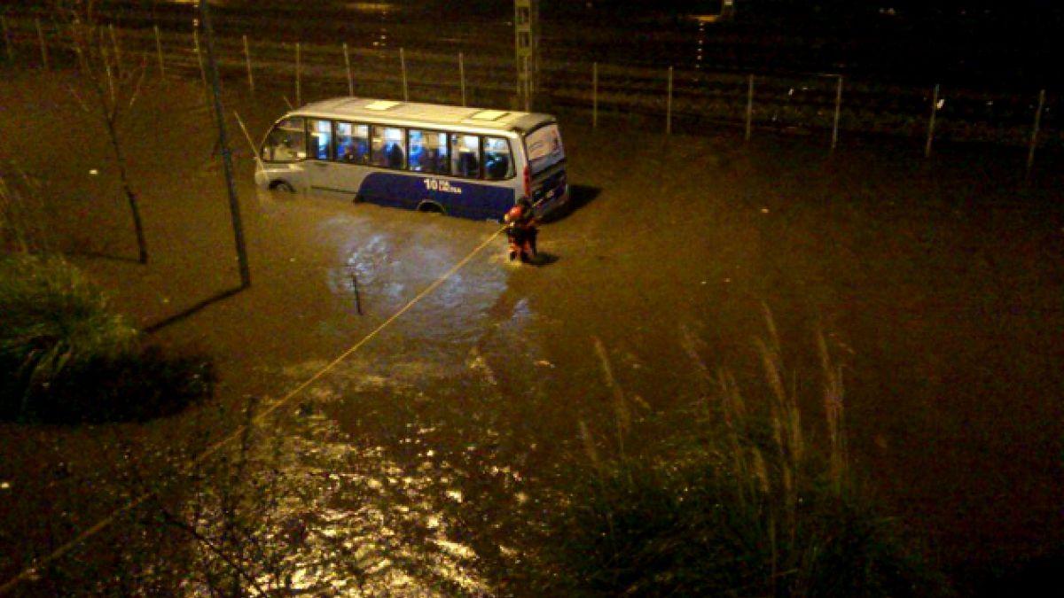 Fuertes lluvias en Concepción: Onemi decreta alertas preventivas