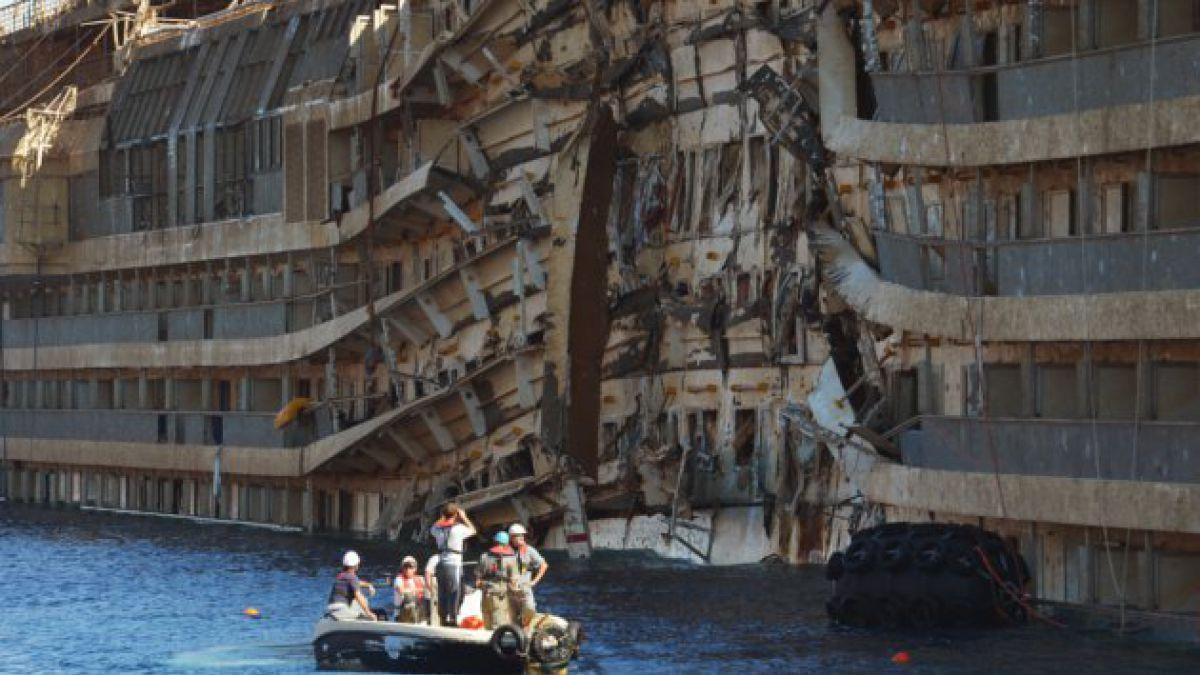 Hallan restos humanos cerca del casco del Costa Concordia