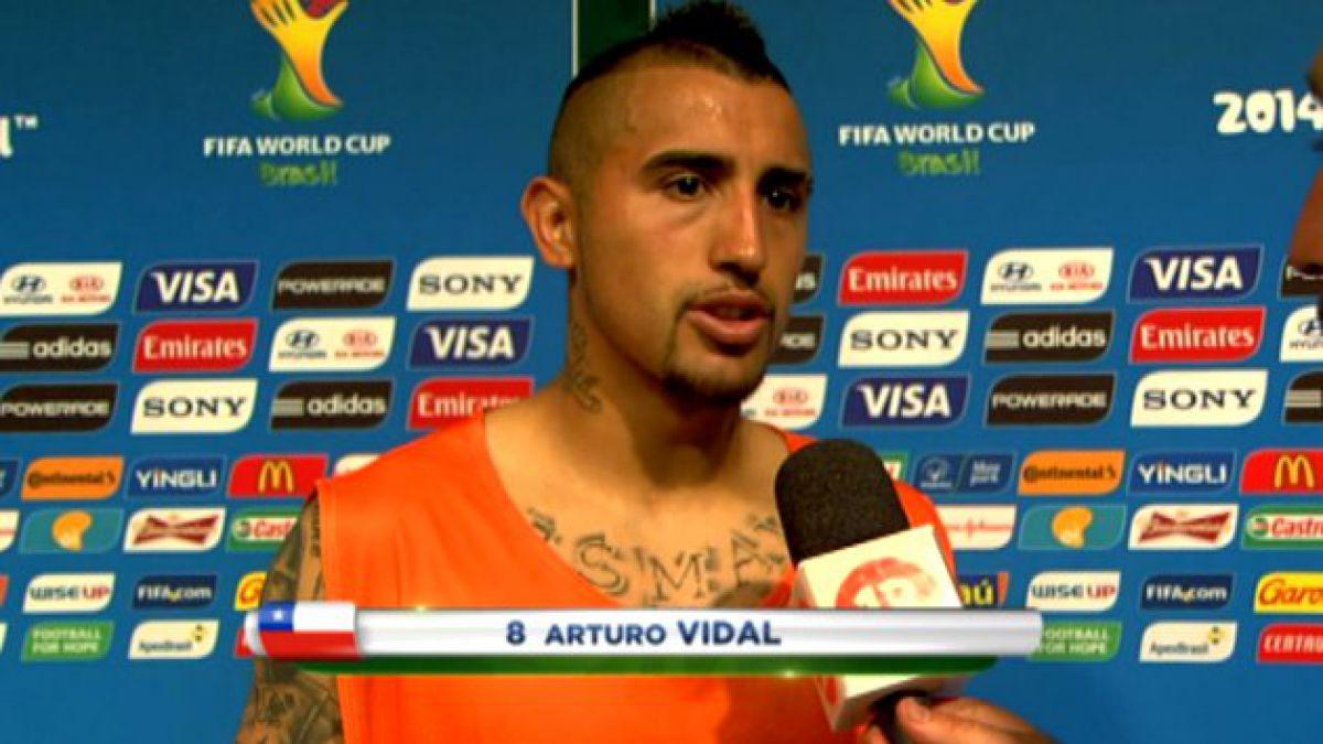 Arturo Vidal rompe el silencio luego del triunfo con Australia