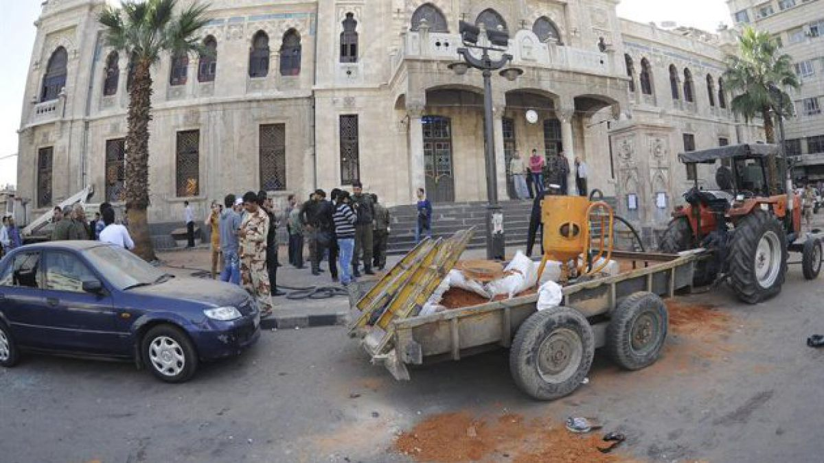 Ataque con mortero deja cinco niños muertos en Damasco