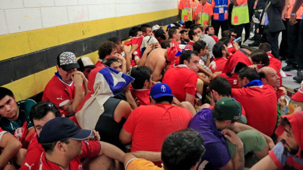 Ingreso a la fuerza de hinchas chilenos en el Maracaná deja al menos 30 detenidos