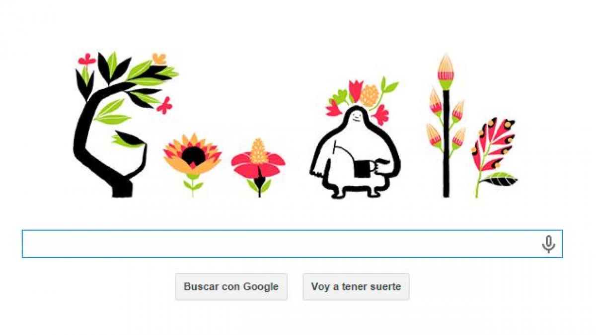 Google festeja la llegada de la primavera con nuevo doodle