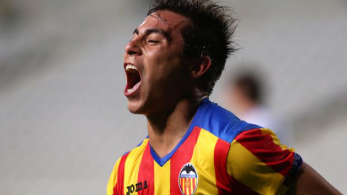 Eduardo Vargas convirtió en victoria de Valencia sobre Dinamo Kiev