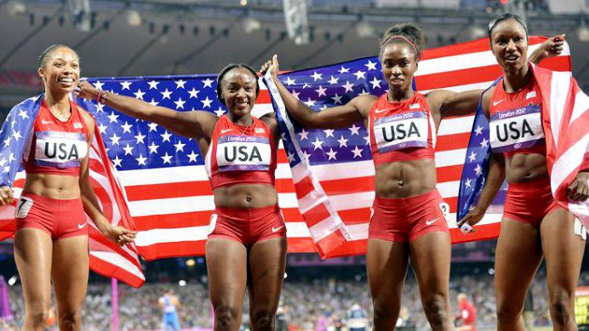 [JJ.OO.] EE.UU. aplastó récord mundial en 4x100 femenino