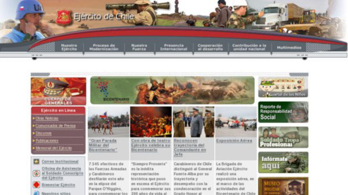 Hackers peruanos atacaron sitio web del Ejército de Chile