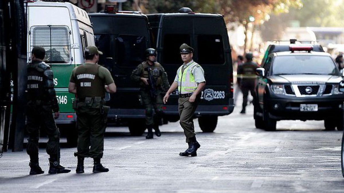 Asalto frustrado en el centro de Santiago deja un herido grave