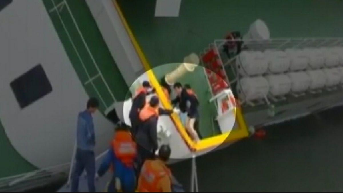 VIDEO: Registro confirma que capitán de ferry surcoerano hundido evacuó antes