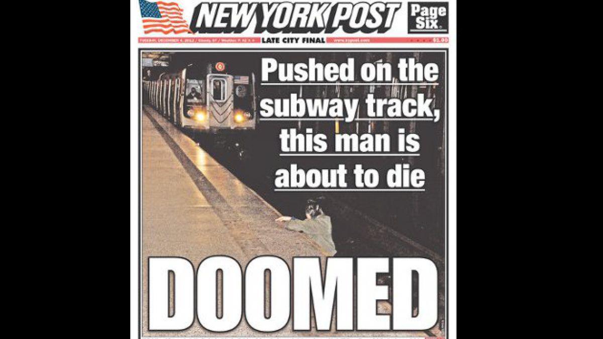 Polémica por fotografía en portada del New York Post