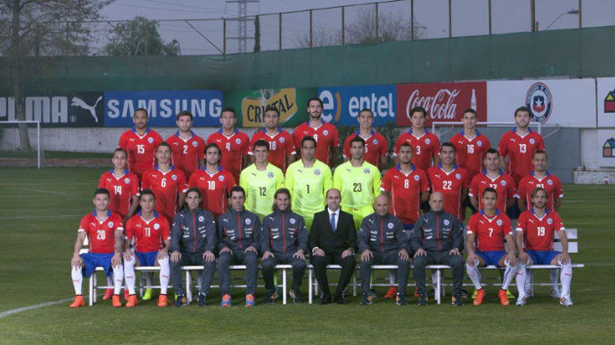 La foto oficial de la Selección chilena para el Mundial de Brasil 2014